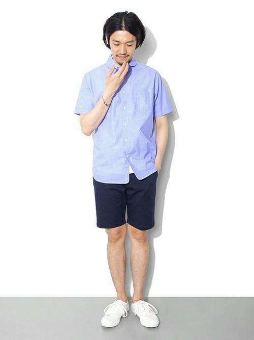 【画像】メンズのショートパンツの着こなしは膝丈がキモくないキーポイント。