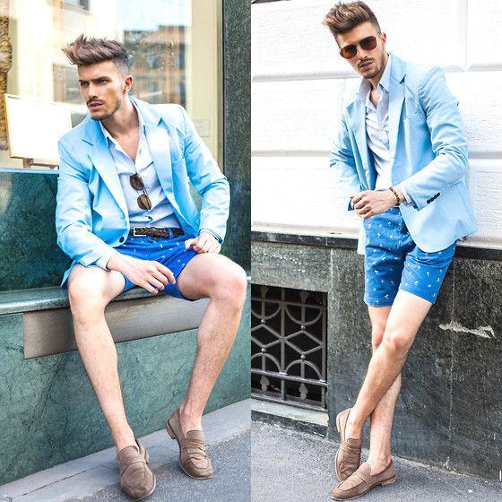 メンズのショートパンツの着こなしは膝丈がキモくないキーポイント。