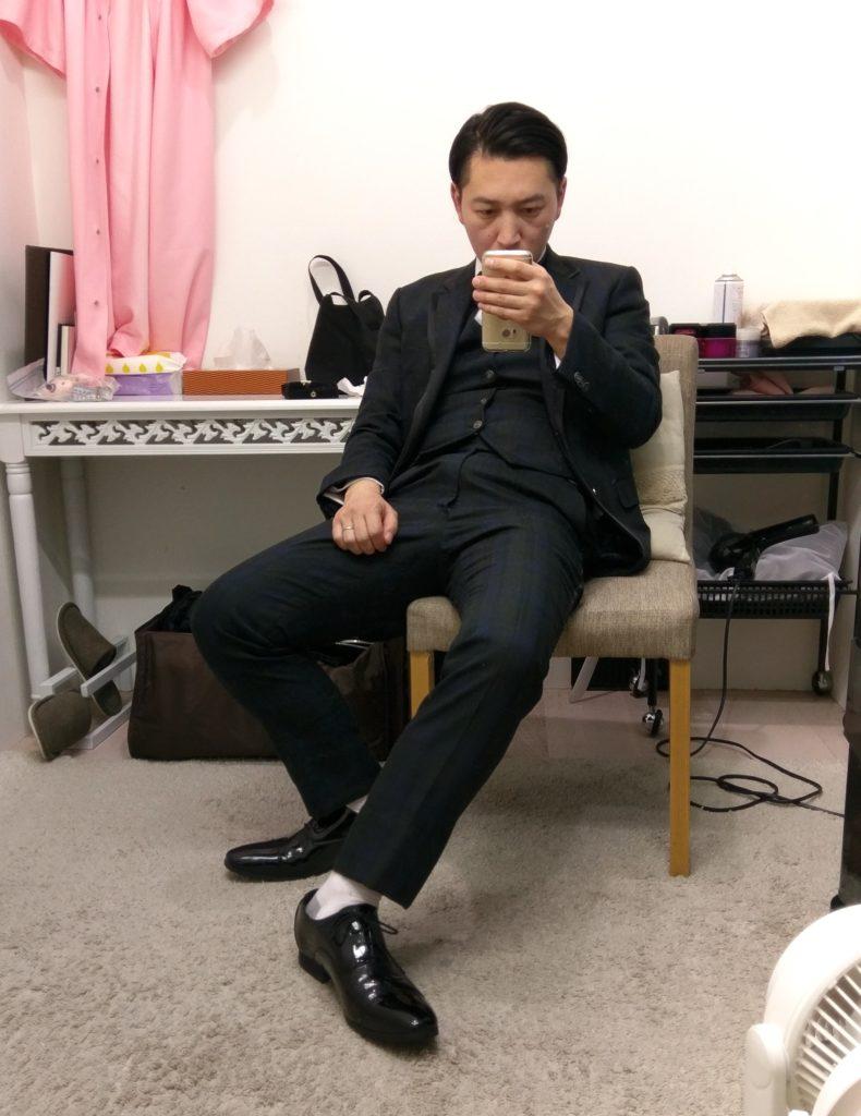 【画像】スーツ試着