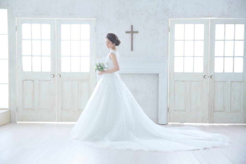 【画像】高いけど良かったスタジオアクアウェディングドレス嫁