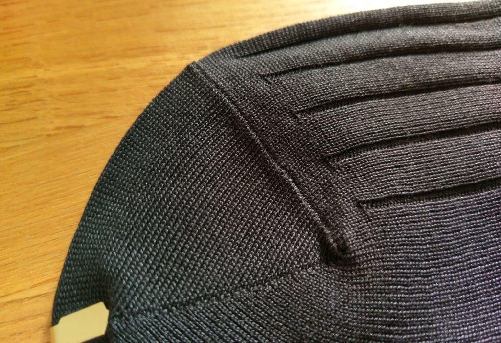 【画像】鎌倉シャツのロングホーズソックスつま先部分