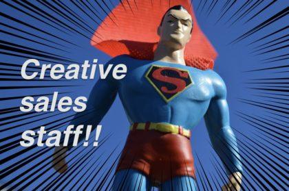 【画像】クリエイティブ販売員にスキルアップ