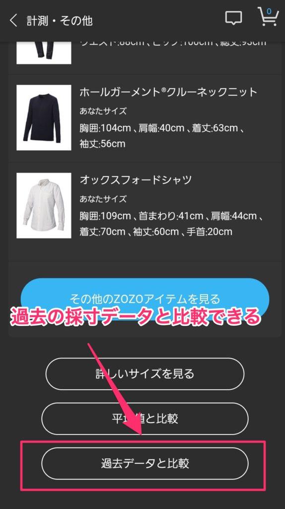【画像】ゾゾスーツで採寸データ比較