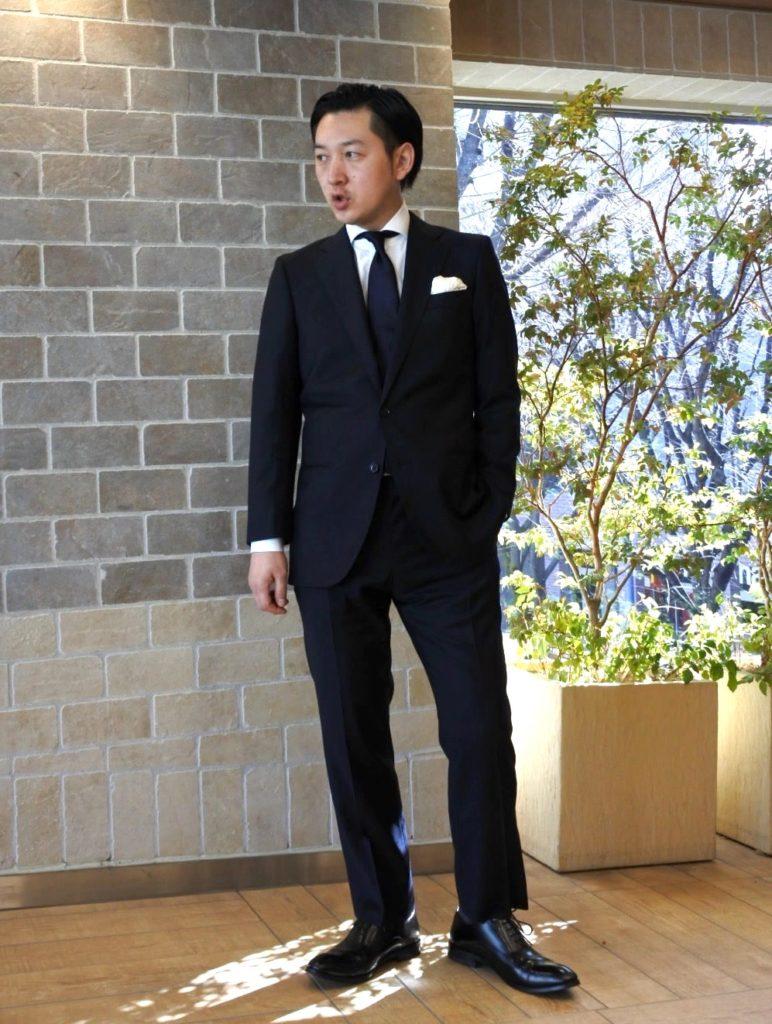 【画像】ゾゾPBビジネススーツ着用