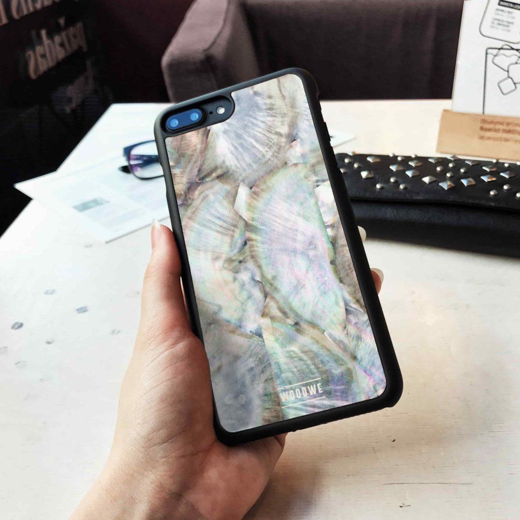 """【画像】""""WOODWE""""iPhoneケース貝殻2"""