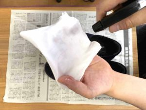 【画像】布を水に濡らす