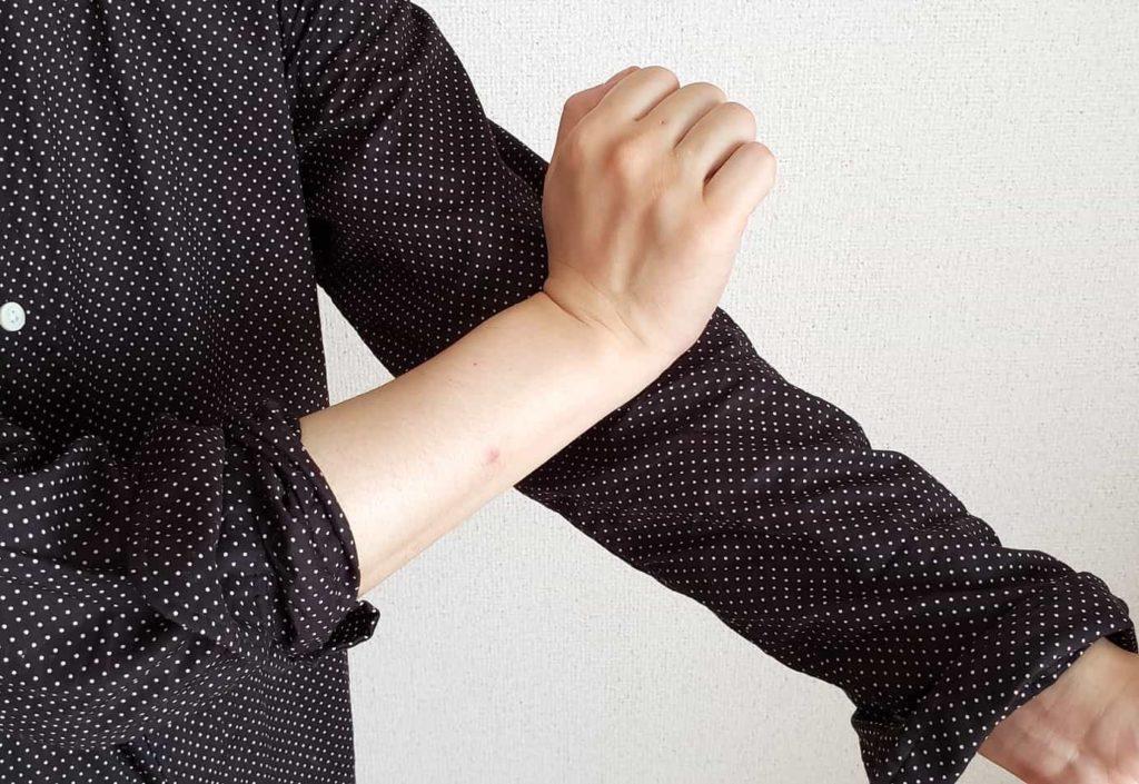 【画像】香水は肘につける