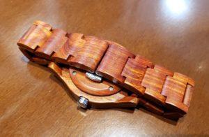 【画像】被らない木製腕時計ベルトアップ
