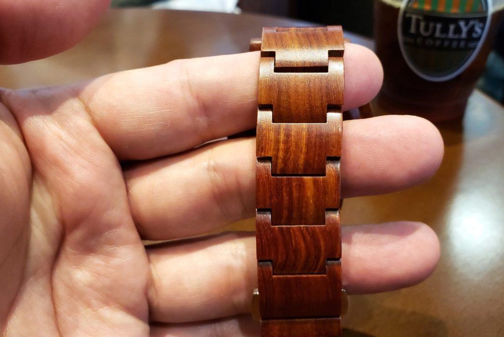 【画像】被らない木製腕時計ベルト