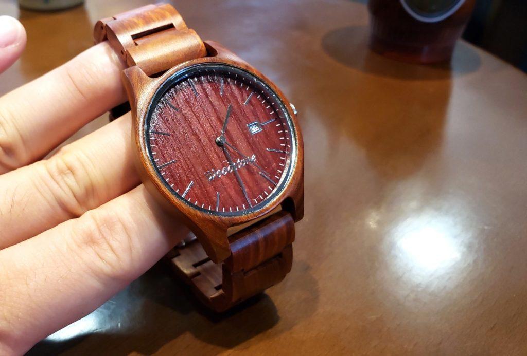 【画像】被らない木製腕時計盤面