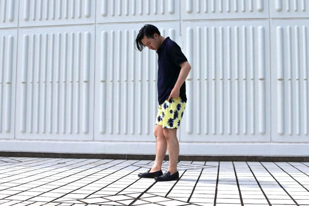 【画像】メンズのスイムショーツは水陸両用