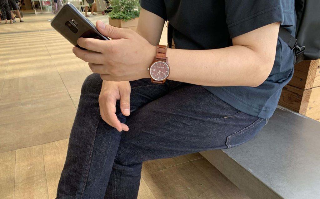 【画像】被らない木製腕時コーディネート