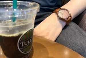 【画像】被らない木製時計カフェ